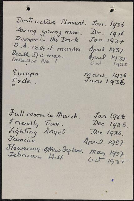 Henry Church Blank card