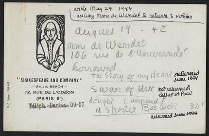 Hélène de Wendel 1944 card