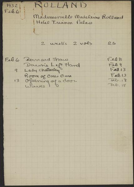 Madeleine Rolland 1932 card