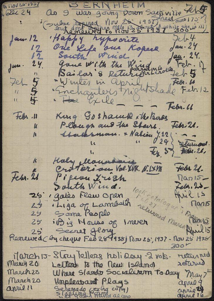 Françoise Bernheim 1937 – 1938 card (large view)