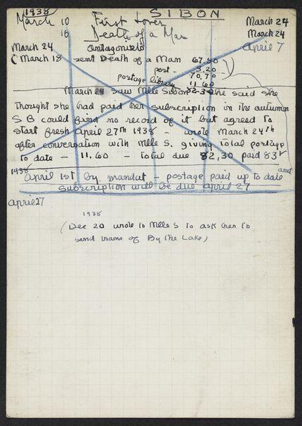 Marcelle Sibon 1938 card
