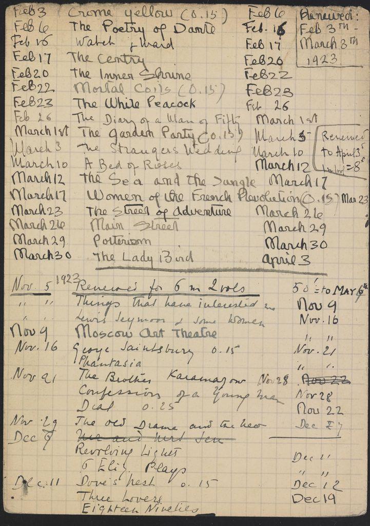 Alice M. Killen 1923 – 1924 card (large view)
