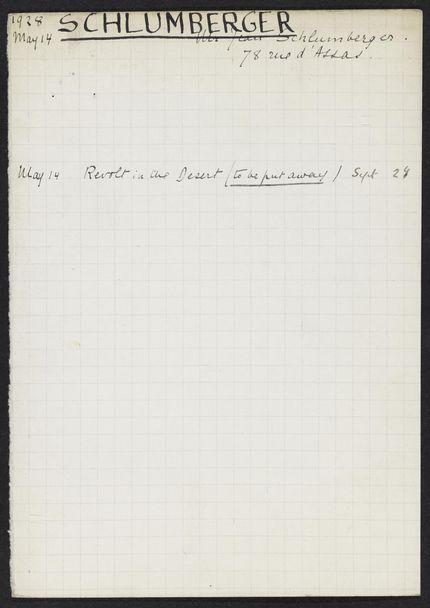 Jean Schlumberger 1928 card