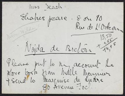 Dolly Wilde 1931 card