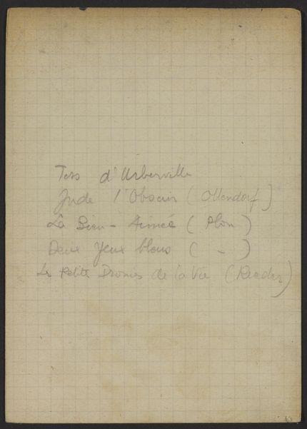 Madeleine Rolland Unknown card