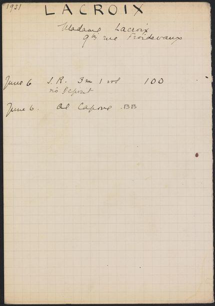 E. Lacroix 1931 card