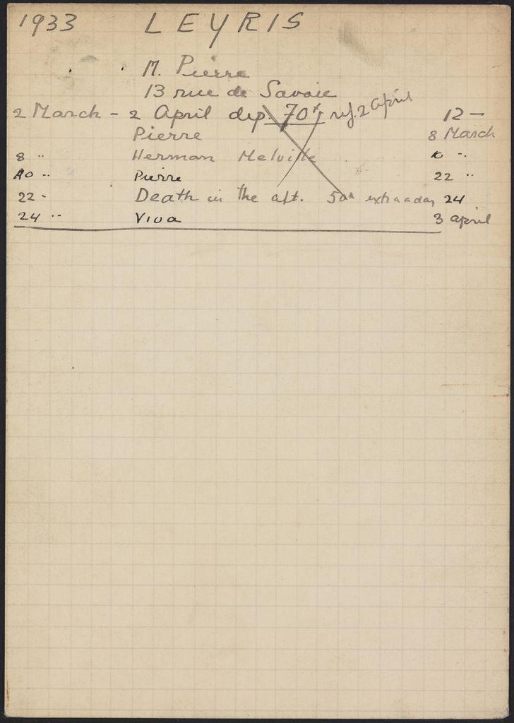 Pierre Leyris 1933 card (large view)