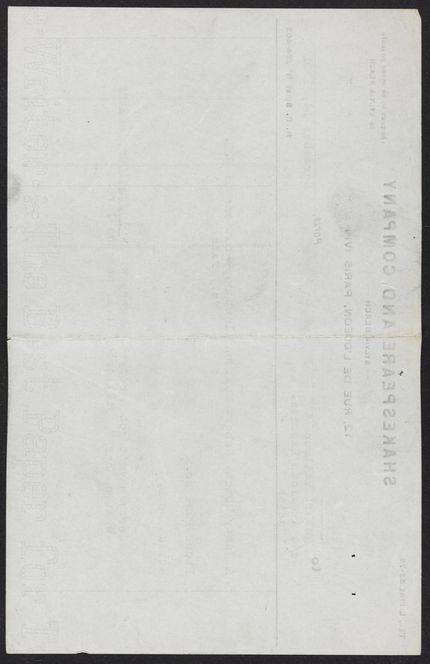 Robert McAlmon Blank card