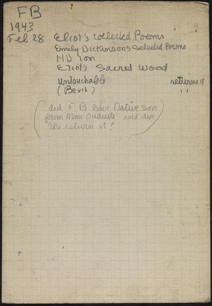 Françoise Bernheim 1943 card