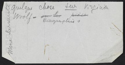 Nathalie Sarraute Blank card