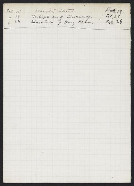 Robert D. Sage 1926 card