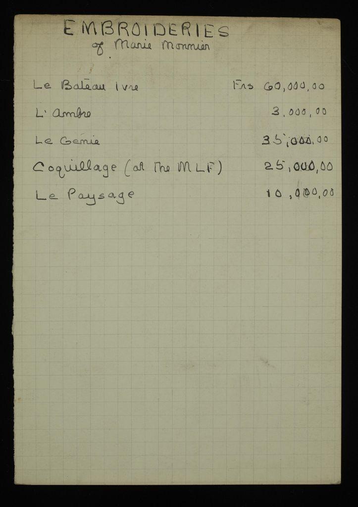 K. Eisenberg Blank card (large view)