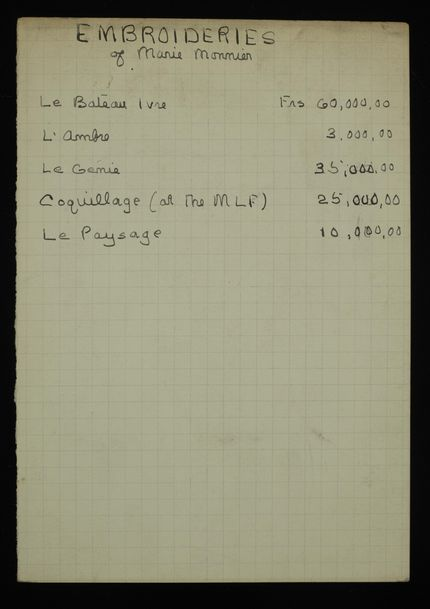 K. Eisenberg Blank card