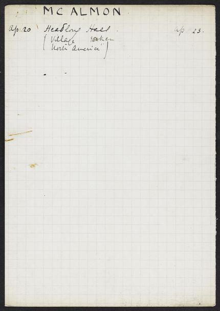 Robert McAlmon Unknown card