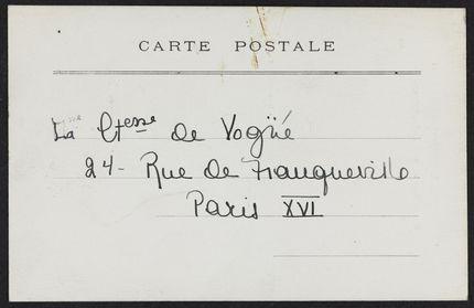 Countess de Vogué Blank card