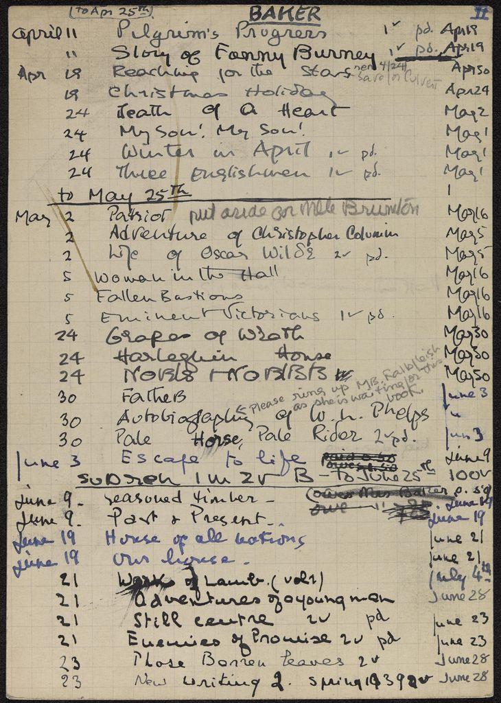 Mrs. Thornton Baker 1939 card (large view)