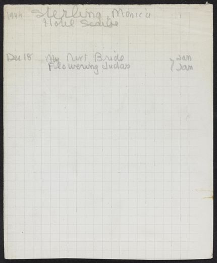 Monica Stirling 1949 – 1950 card