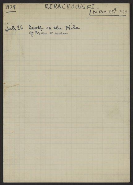 Fanny Rirachowsky 1939 card