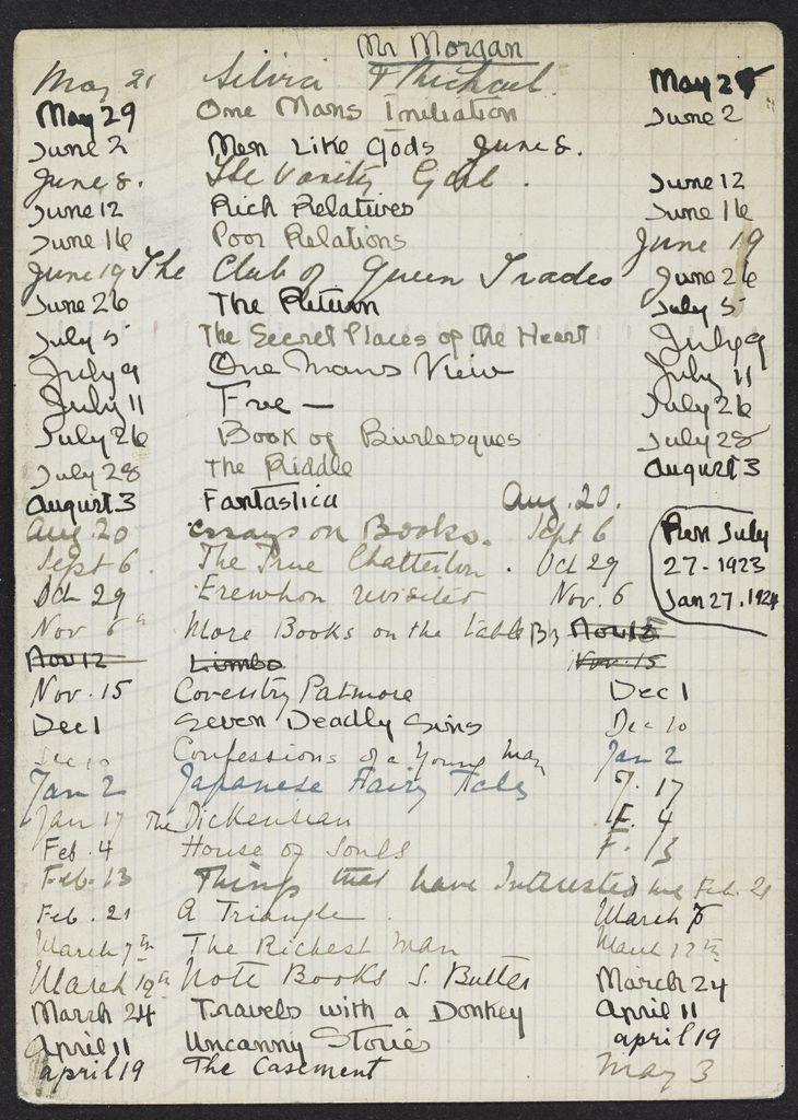Mr. Morgan 1923 – 1924 card (large view)