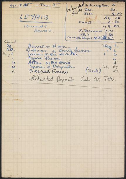 Pierre Leyris 1936 card