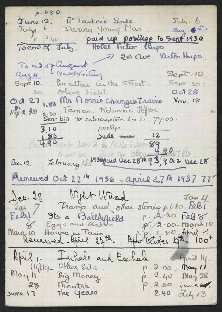 Marcelle Sibon 1936 – 1937 card (large view)