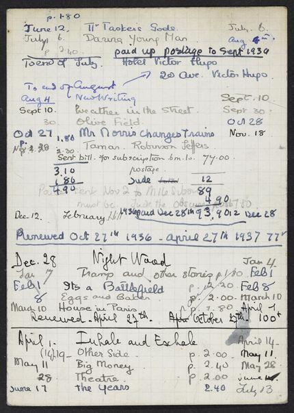 Marcelle Sibon 1936 – 1937 card